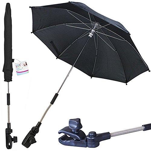 Buggyschirm Kinderwagenschirm Sonnenschirm Sonnenschutz mit flexibler Halterung