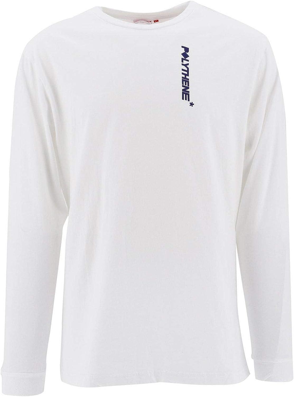 0bd2a4dbde0a3 Polythene Optics Optics Optics Men's POLS03SC50WHT White Cotton T-Shirt  605ea3