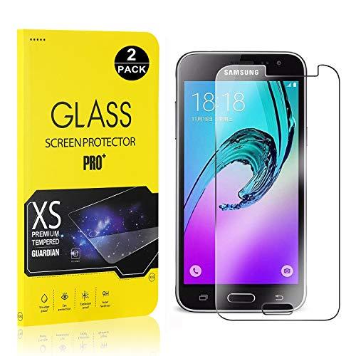 Bear Village® Displayschutzfolie für Galaxy J1 2016, 9H Hart Schutzfilm aus Gehärtetem Glas, Ultra klar Displayschutz Schutzfolie für Samsung Galaxy J1 2016, 2 Stück