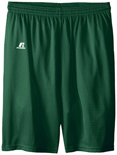 Russell Athletic Big Boys' Youth Mesh Short, Dark Green, Medium