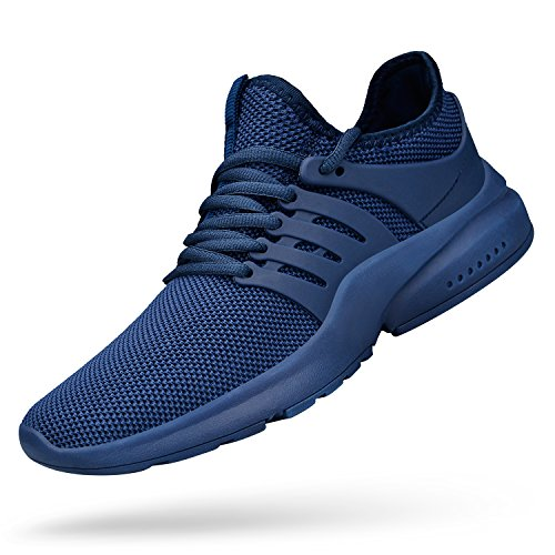 Feetmat Mens Running Tennis Work Shoes Slip On Resistant Sneakers Lightweight Breathable Athletic Fashion Zapatos Gym Sport Non Slip Casual Walking Shoes for Men Blue 11