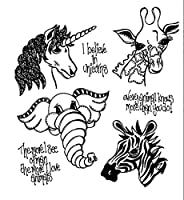 Animal head transparent Clear Stamps seal Scrapbook Paper Craft Clear stamp scrapbooking X0435