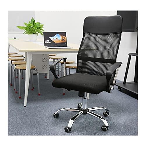YUJIADIAN Silla de Respaldo de Malla Simple Silla ergonómica 360 Rotating Liftable Office Home Swivel Simple Estudiante Juego Silla de elevación Suave 0612