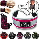 C.P. Sports Set Dip Cinturón (Dipgürtel, Dippgürtel) incluida cadena & carabinas +...