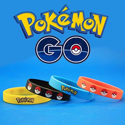 ZJZ Pokémon Yellow silicone bracelet ring pokemon go Pokemon Pokemon wrist band (Color : Blue)