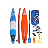 Surfboard Inflatable Sup Surfboard Paddle Board Set Accessories Backpack Paddle Board (Color : Blue, Size : 381x68x15cm)