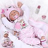 ZIYIUI DOLL Muñecos Bebé Reborn Niña Realista Silicona Suave Recién Nacido Dormir Juguetes 22 Inch 55cm