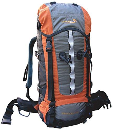 Urban Rock Vertical Pro 45 Sac à Dos de randonnée Orange/Gris 1800 g