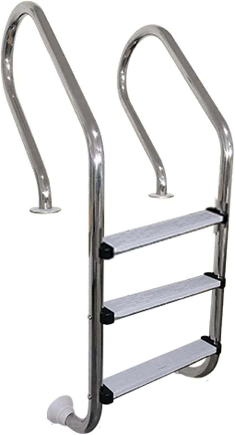 MQKQ Translated Swimming Pool Ladder Stainless 3-Step Pedal Steel Omaha Mall Non-Slip