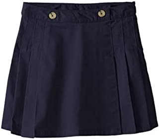 French Toast Big Girls' Peached Twill Pleated Scooter Skort-Skirt with Hidden Shorts (6)