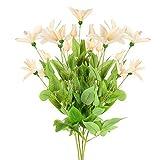 NAHUAA Plantas de Flores Falsas 4 pcs Ramo de Flores de Loto Artificial Seda Flor Simulación de Plantas Decor de Interior para el Hogar Cocina Dormitorio Fiesta Jardín Vacaciones Boda Decoración