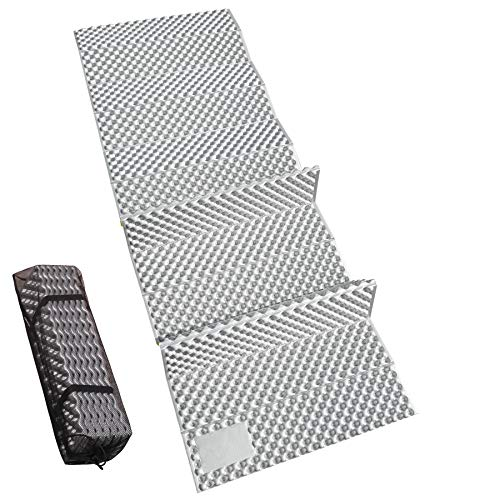 """REDCAMP Closed Cell Foam Sleeping Pad for Camping, 22"""" Wide Lightweight Folding Camping Pad for Hiking Backpacking, 72""""x22""""x0.75"""", Grey 1 Pack"""