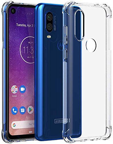 GTElectro Crystal Clear Soft & Flexible Slim Transparent Protective Case Cover with Reinforced Bumper Corners for Motorola One Vision (Clear)