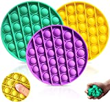 DIZHIGE Juguete sensorial de burbujas Push pop, autismo necesidades especiales alivio del estrés y antiansiedad, juguete sensorial de silicona para niños y adultos