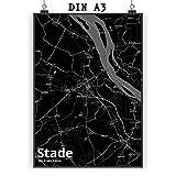 Mr. & Mrs. Panda Poster DIN A3 Stadt Stade Stadt Black -