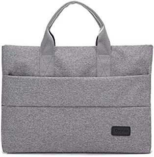 Yuanzengjunfva Oxford Cloth Computer Bag 16 Inch Portable Briefcase Ladies Fashion Ultra-Thin Wearable Casual Cloth Bag (Color : Grey, Size : 16 inches)