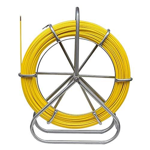 Kacsoo 130m Fischband Fiberglas Kabel Mit Starke Biegeleistung Draht Einziehbarer Einfädler 6MM 425FT Fischband-Abzieher Kabel Rodder
