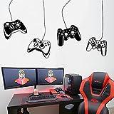Videojuego Joystick Controller PS5 Gamepad Xbox Gamer Game Zone Etiqueta de la pared Calcomanía de vinilo Dormitorio de niño Sala de juegos Sala de juegos Club Studio Decoración para el hogar Mur