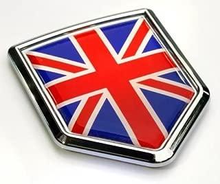 Car Chrome Decals Great Britain Flag British Emblem Chrome Car Decal Sticker Badge 3D England United Kingdom CBSHD250