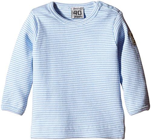 Pippi Pippi Baby - Jungen T-shirt Ls W.buttons O.shoulder, Blau (Hellblau), Gr. 19 (Hersteller Größe:60)