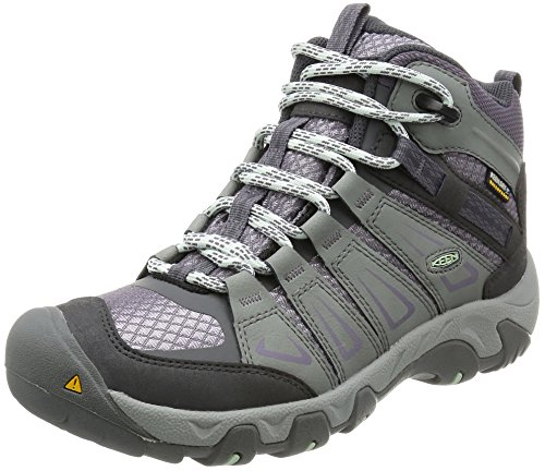 KEEN Womens Oakridge Mid Waterproof Boot, Gray/Shark, 7.5 M US