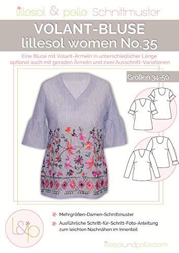Lillesol & Pelle Schnittmuster women No35 Volant-Bluse Papierschnittmuster
