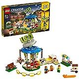 LEGO Creator GiostradelLunaPark 3 in 1, Avventure al Parco Giochi, Giostra a Tema Spaziale, 31095