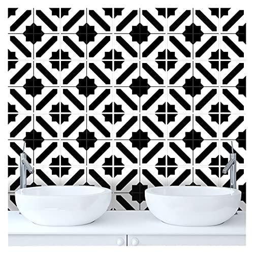 QOXEFPJZ Cenefa Adhesiva Cocina 10pcs Home Wall Etiqueta Etiqueta Empalme Simulación Floral Sistema Pegatina Cocina Casa Cuarto de baño Decoración Muro Impermeable (Color : A, Size : 15cmX15cm)