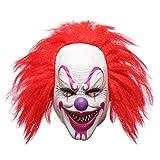 Hophen Scary Evil Killer Joker Clown Latex Mask Halloween Horror Cosplay Costume Prop for Adults