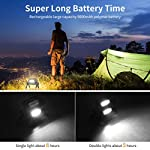 LED Work Light Rechargeable Folding Flood Light Portable Outdoor Stand Work Lights with 360° Rotatation Black 5