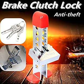 Tire Pressure Alarm - Universal Auto Car Brake Clutch Pedal Lock Throttle Accelerator Pedal Lock Stainless Steel Anti-Theft Security Device ()
