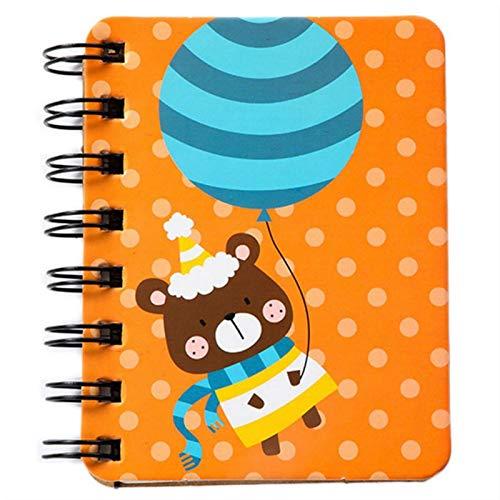 Beeria - Cuaderno de espiral con 2 compartimentos, tamaño A5, cuaderno con separadores, cuaderno clásico de papel liso, cuaderno de bolsillo para escuela y oficina