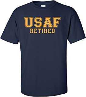 ZeroGravitee USAF Retired Gold Logo Short Sleeve T-Shirt