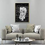 SADHAF Cute Picture Of Lion Print Home Poster and Prints Decoración Sala de estar Wall Picture Art A3 50x70cm