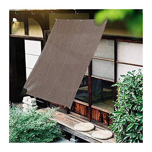 LSXIAO Sun Shade Sail, Rectangle Awning, Uv Block Canopy, Polyethylene Parasols Thermal Insulated with Anti-rust Grommet for Outdoor Patios, Pergola, Swimming Pool (Color : Brown, Size : 4x1.8m)