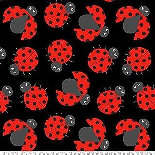 Ladybug Fleece Fabric by The Yard