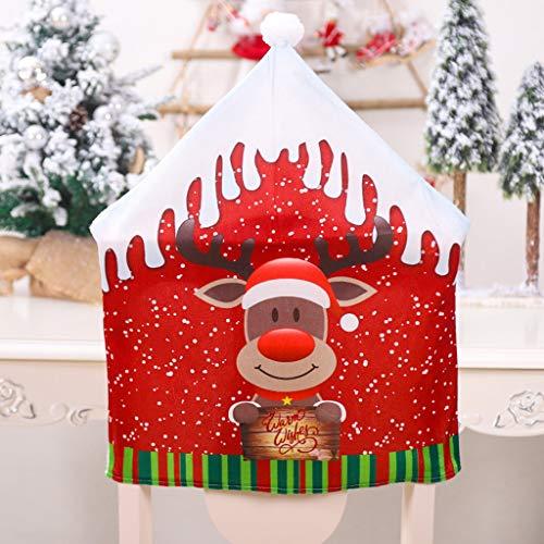 Higlles 2 Weihnachtsmann Dekoration Stuhlabdeckung 47x60cm Flanell Hohe Qualität Weihnachtsdekoration Sitzbezug