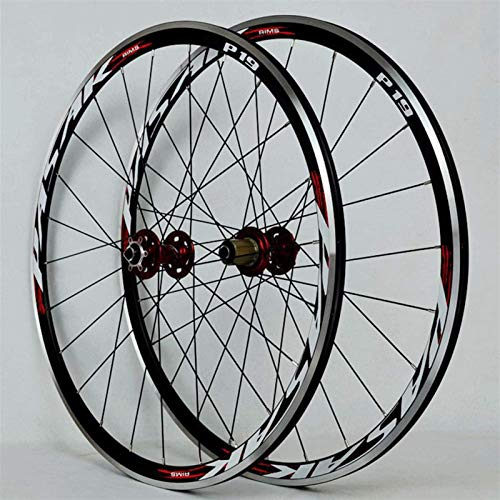 TYXTYX Ejes de liberación rápida Accesorio para Bicicleta 700C Llanta de Bicicleta de Carretera Juego de Ruedas de Carreras superligeras Disco/Freno en V Rueda de Bicicleta Cassette de 7-11 veloc