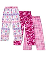 Mad Dog Girls 3 Pack Fleece Sleep Pant Pink