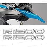 2pcs R1200 Motorrad 2013 - 2017 LC R 1200 GS ADESIVI PEGATINA STICKERS AUTOCOLLANT AUFKLEBER VINIL Motorcycle r1200gs (White)