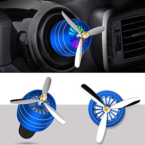 Mylujo Auto Essentiële Olie Diffuser Vent Clip, Luchtverfrisser Auto Air Parfum Mini Airconditioning Vent Outlet Parfum Clip No. 3 with lights (deep sea blue)