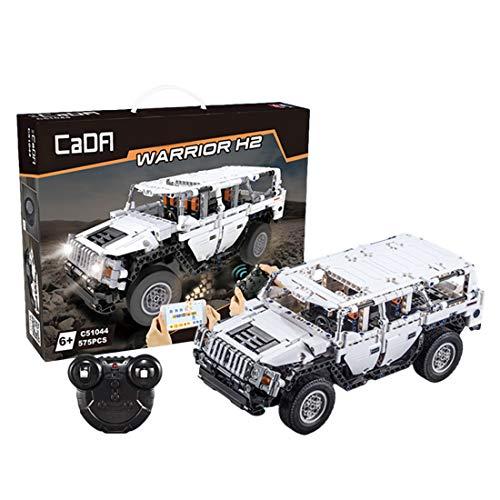 Gettesy Bloques de construcción para coche teledirigido, 575 bloques de construcción 2,4 G, para CADA Hummer H2, todoterreno, compatible con Lego Technic