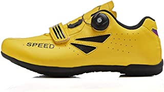 OneChange Road Cycling Shoes for Women Men, Unisex Mountain Bike Bicycle Trainers MTB Shoes Flat without Cleats (Color : Yellow, Size : 7 UK)