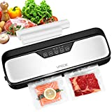Vacuum Sealer Machine, VPCOK Vacuum Sealing Machine with 10pcs Food Sealer Bags Vacuum