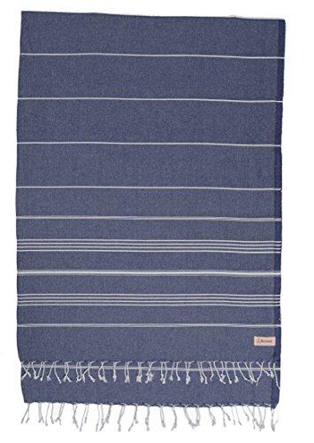 Bersuse Anatolia XXL - Manta turca (100% algodón), Color Azul Oscuro