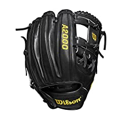 """Wilson A2000 DP15 Dustin Pedroia Model 11.5"""" Infield Baseball Glove 11.5 inch; infield WTA20RB19DP15 Made with Pedroia Fit for players with a smaller hand H-Web design Black Pro Stock leather, preferred for its rugged durability and unmatched feel Du..."""