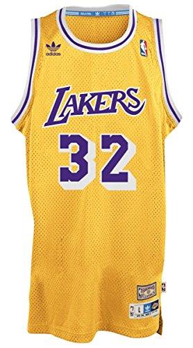 Magic Johnson Los Angeles Lakers Adidas NBA Throwback Swingman Jersey Maglia - Gold