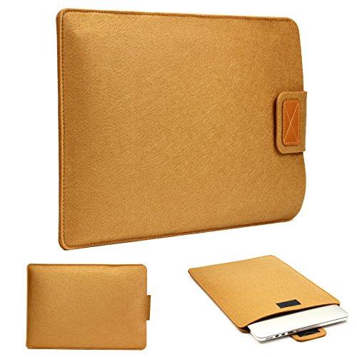 Urcover 12 Zoll (37 cm) Filz Laptop Tasche & Tablet Hülle passend für Ihr iPad, Lenovo Tablet, Samsung Tab, Netbook & viele weitere Mobile Endgeräte Braun