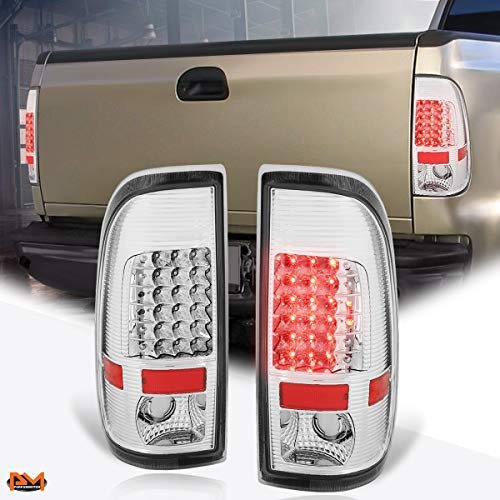 Compatible with Ford Super Duty 97-07 Full LED Tail Light Brake/Stop/Reverse Lamp Chrome