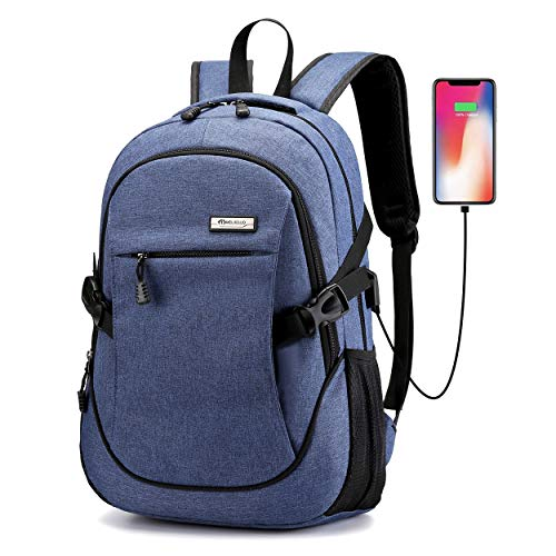 Ranvoo school backpack Travel Anti Theft Slim Durable Laptops Backpack with USB Charging Port,Water Resistant College School Computer Bag for Women & Men Fits 15.6 Inch Laptop and Notebook